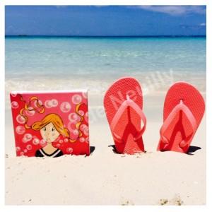 Mademoiselle Vanille en vacances aux Bahamas