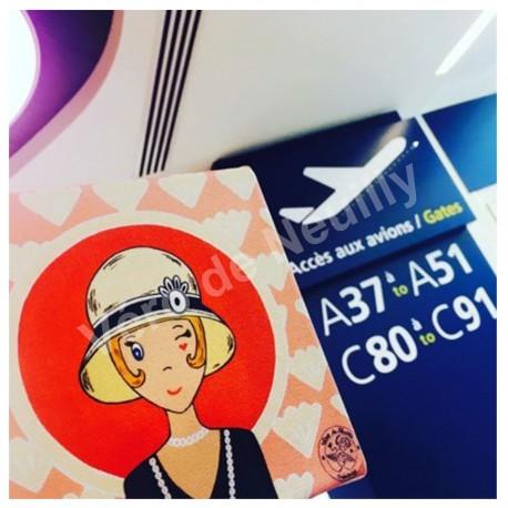 Mademoiselle Vanille à l'aéroport